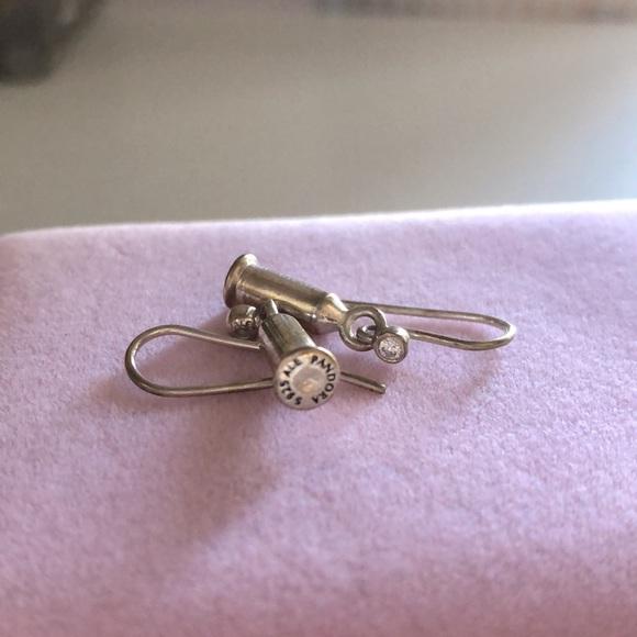 Pandora compose charm barrel & earrings